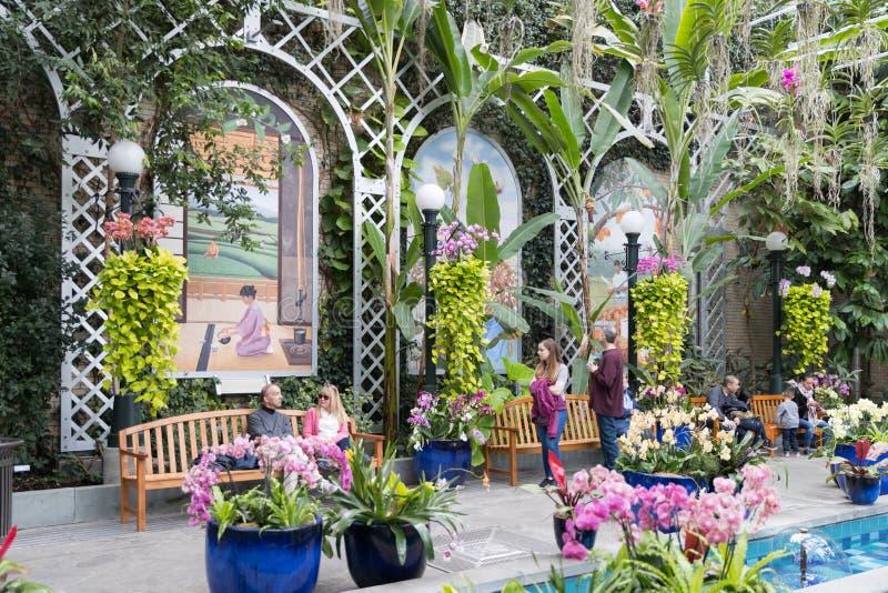 botanisk trädgård huswashington för c D white C USA royaltyfri foto