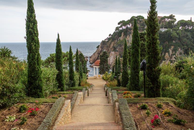 Botanisk trädgård i Blanes, Catalonia, Spanien royaltyfria foton