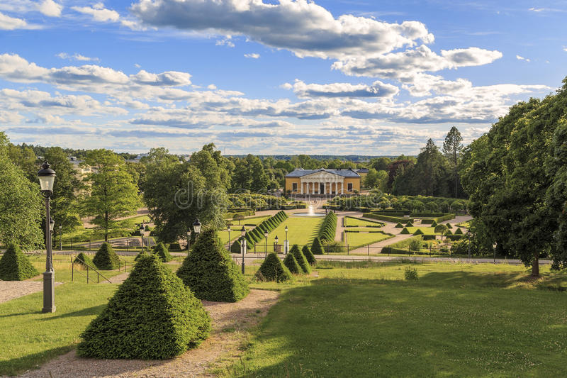 Botanisk trädgård Uppsala, Sverige arkivfoto