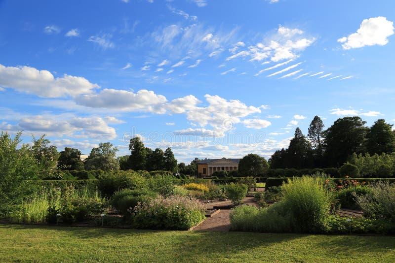 Botanisk trädgård Uppsala, Sverige royaltyfri fotografi
