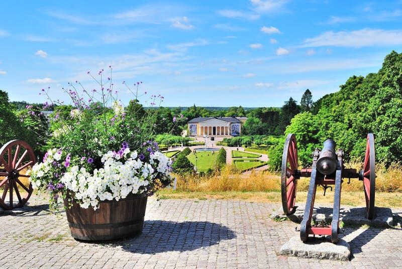 botanisk trädgårdsweden uppsala sikt fotografering för bildbyråer