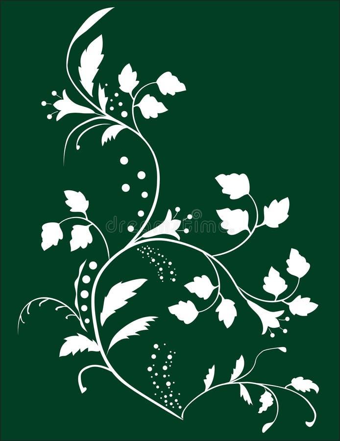 botaniska blommaleaves för bakgrund stock illustrationer