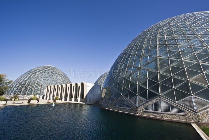 botaniska kupoler trädgårds- milwaukee royaltyfri fotografi