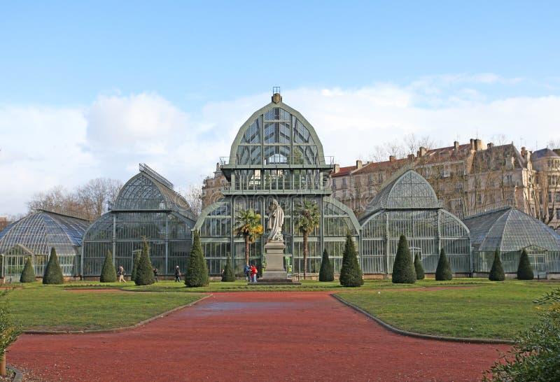 Botaniska trädgården parkerar in av det guld- huvudet i Lyon, Frankrike arkivbild