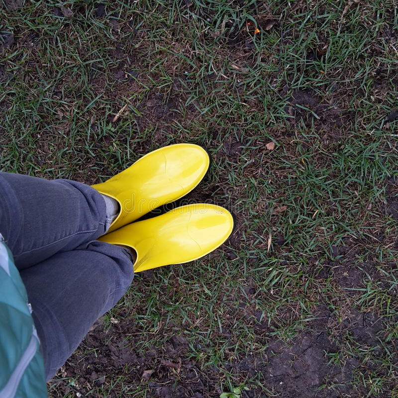 Botas amarelas fotos de stock royalty free