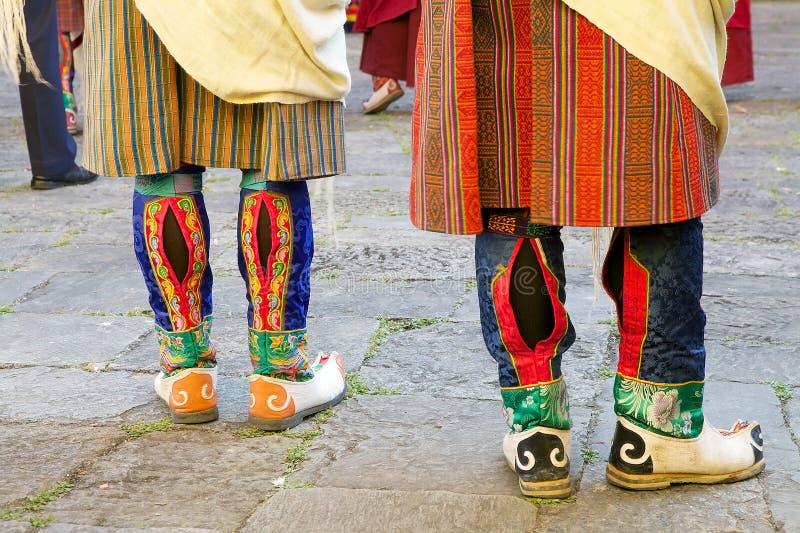 Botas butanesas, Trongsa, Butão foto de stock
