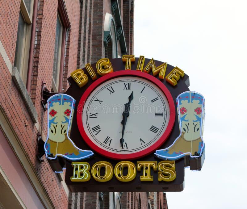 Botas de la primera línea, Nashville Tennessee imagen de archivo libre de regalías