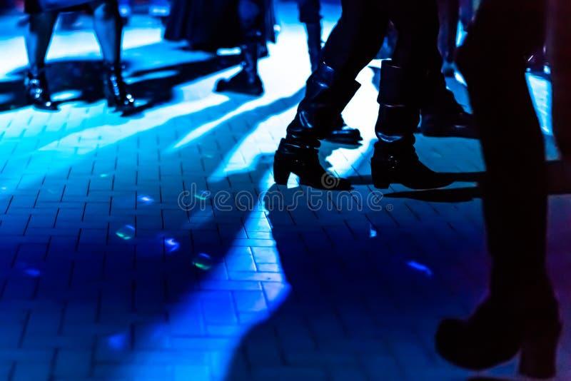 Botas de la sala de baile fotografía de archivo libre de regalías