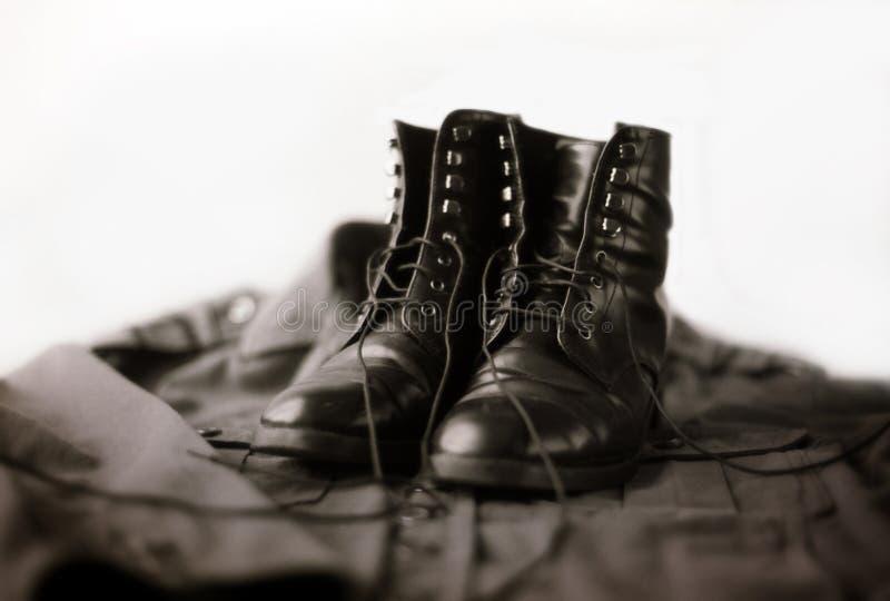 Botas do exército fotografia de stock royalty free