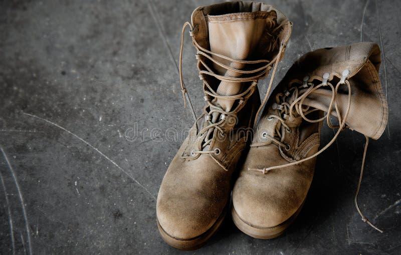 Botas do exército dos EUA foto de stock royalty free