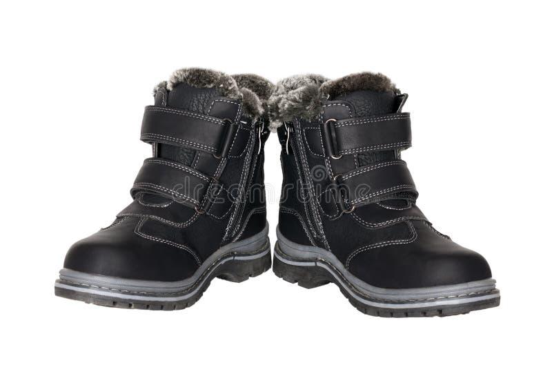 Botas do inverno para crianças fotografia de stock royalty free