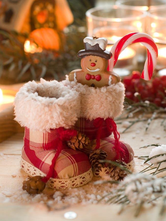 Botas retras de la Navidad foto de archivo
