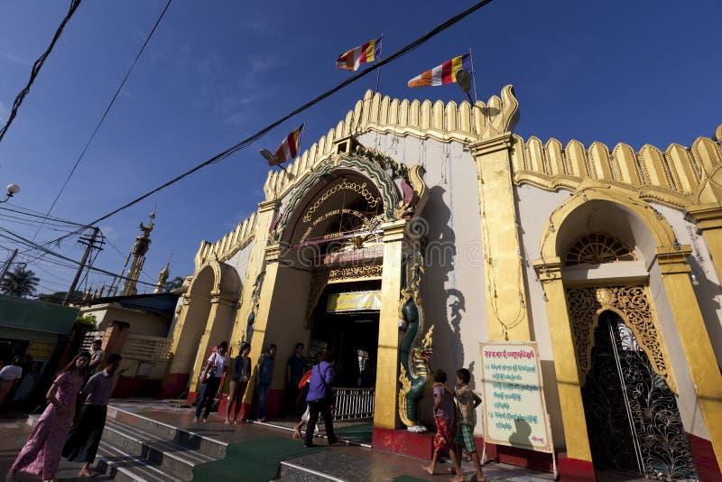 Botataung pagoda in downtown Yangon, Myanmar. Yangon, Myanmar - Oct 31 : the golden Botataung pagoda located in downtown Yangon, Myanmar on October 31,2015. This royalty free stock photos