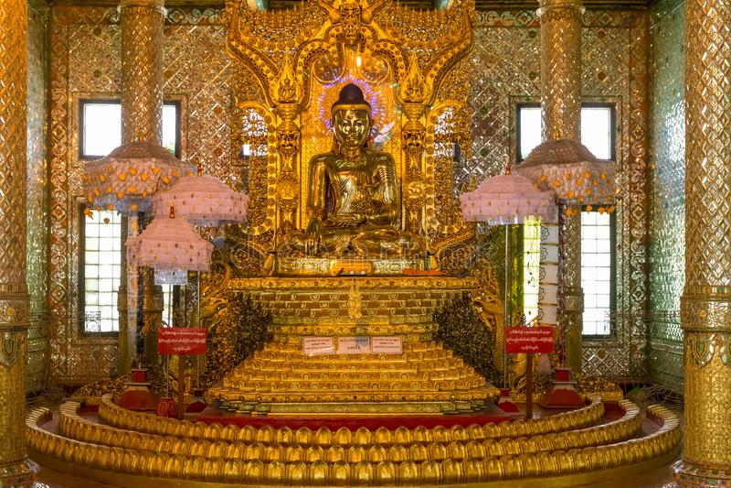 Botataungs-Pagode, Rangun, Myanmar stockfoto