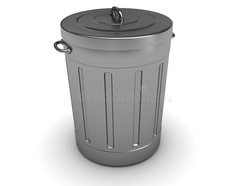 Bote de basura stock de ilustración