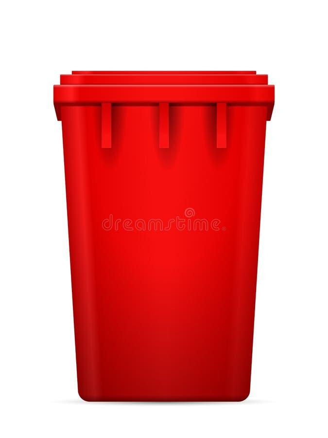 Bote de basura ilustración del vector