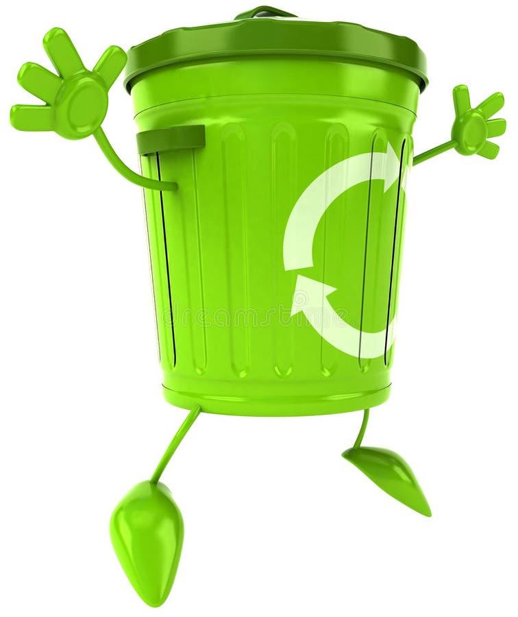 Bote de basura libre illustration