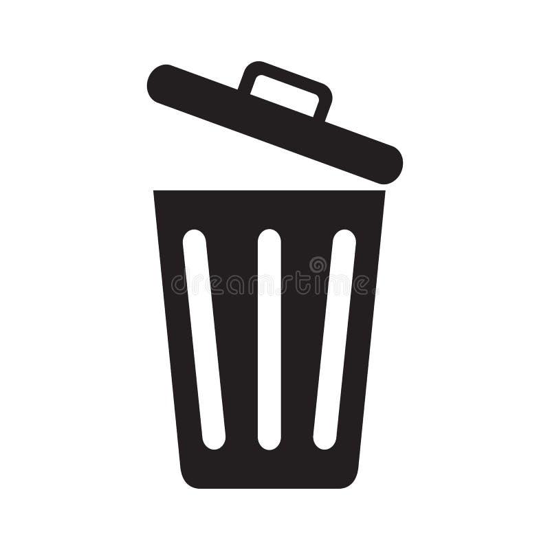 Bote de basura abierto ilustración del vector