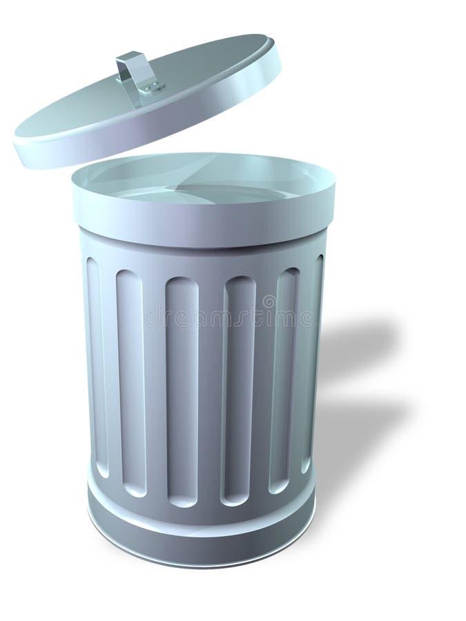 Bote de basura abierto libre illustration