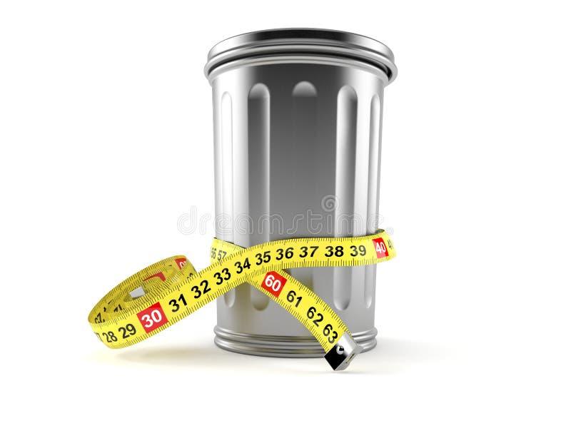 Bote de basura con centímetro ilustración del vector