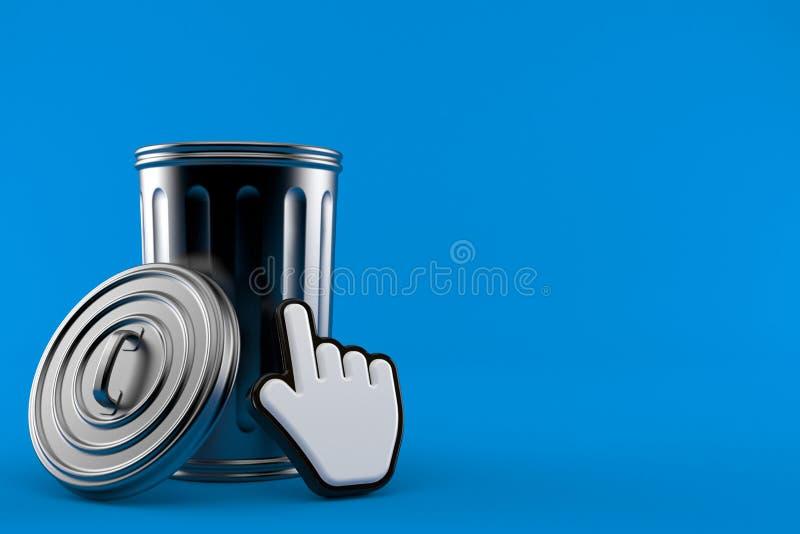 Bote de basura con el cursor del web libre illustration