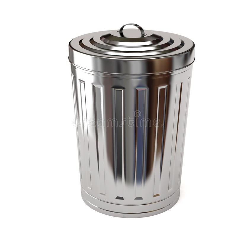 Bote de basura de acero libre illustration