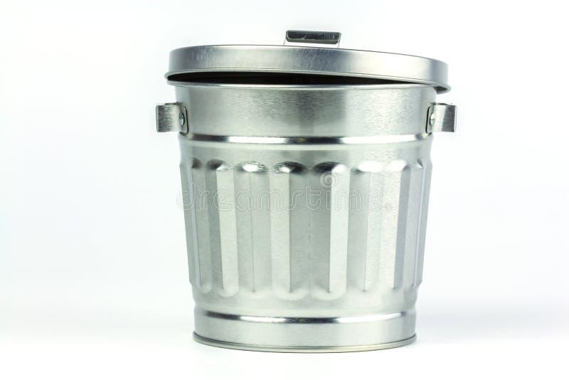 Bote de basura de acero fotos de archivo libres de regalías