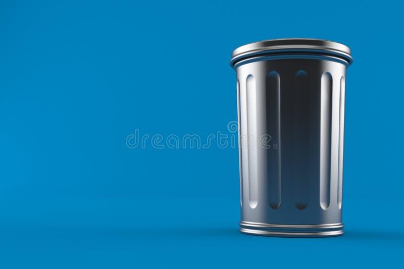 Bote de basura del metal ilustración del vector