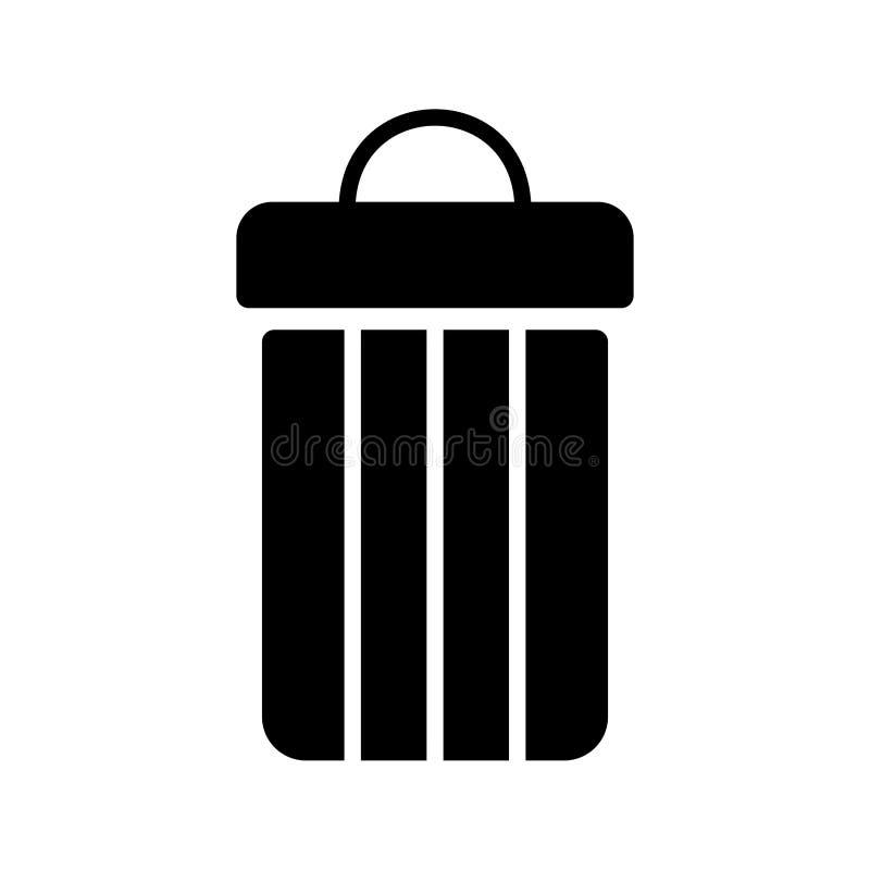 bote de basura ennegrecerse ilustración del vector