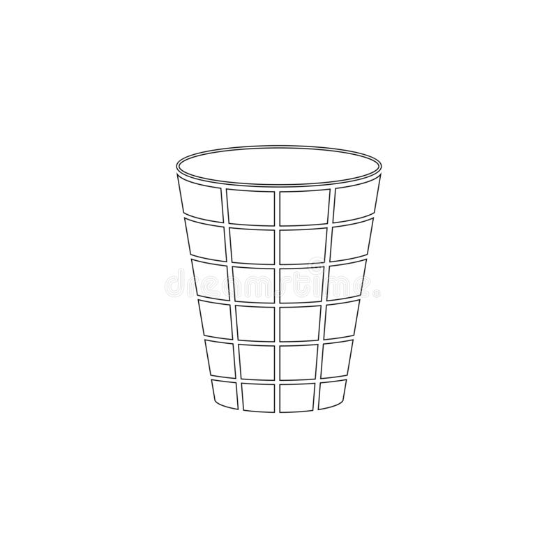 Bote de basura Icono plano del vector libre illustration