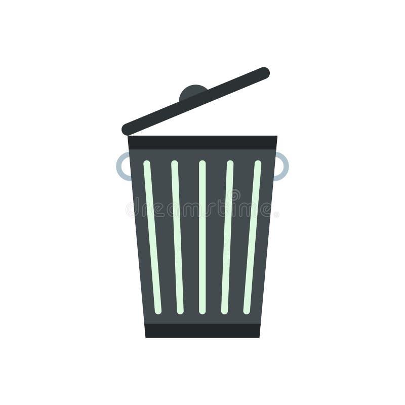 Bote de basura plano stock de ilustración