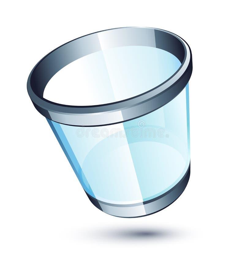 Bote de basura transparente stock de ilustración