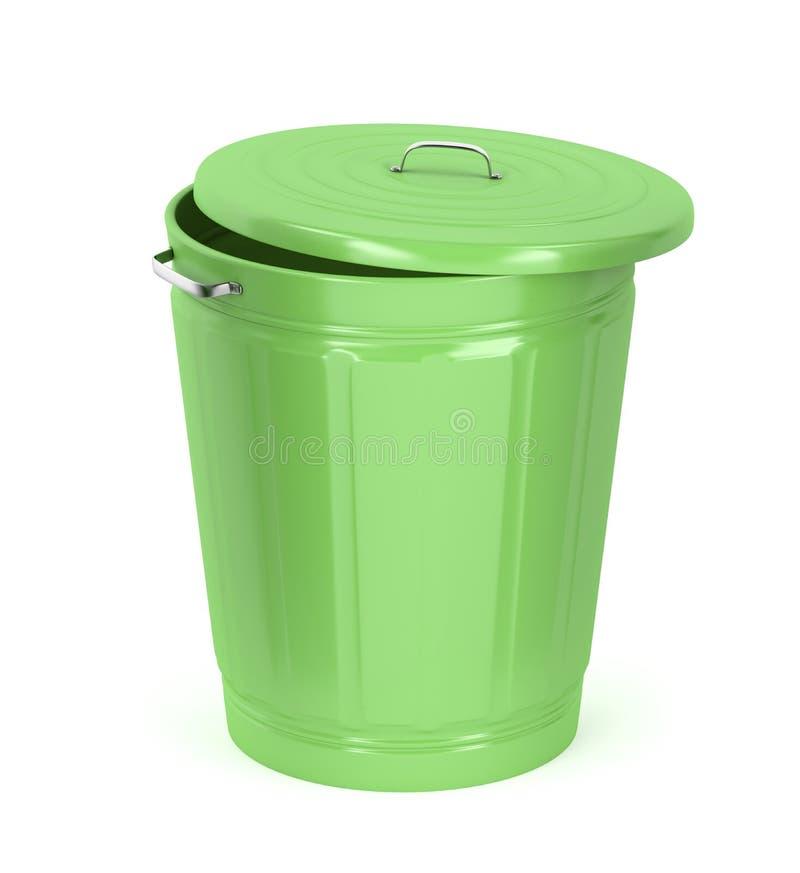 Bote de basura verde libre illustration