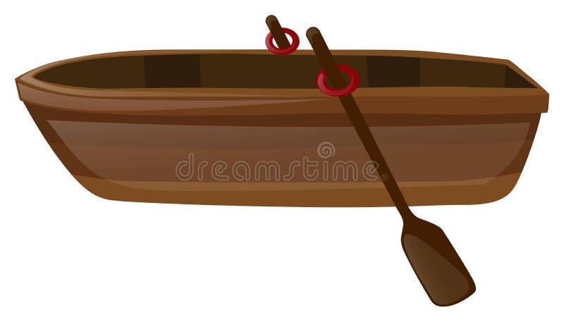 Bote de remos con dos remos libre illustration