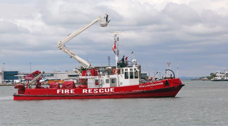 Bote de salvamento do incêndio imagens de stock
