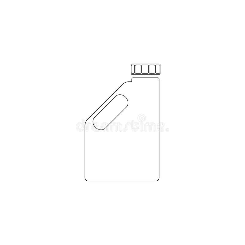 Bote del combustible Icono plano del vector ilustración del vector