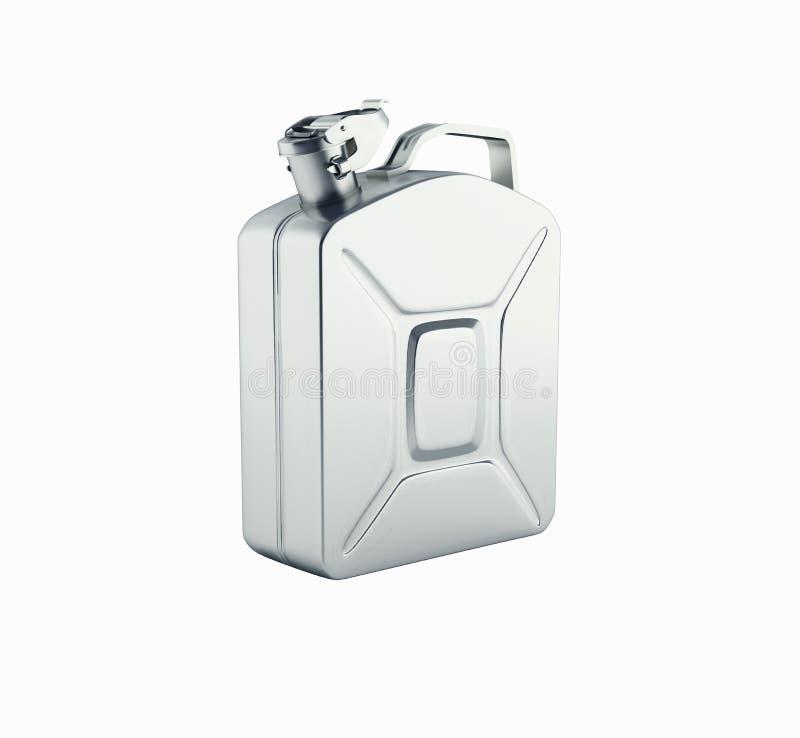 Bote del gas sin la sombra en el fondo blanco 3d libre illustration