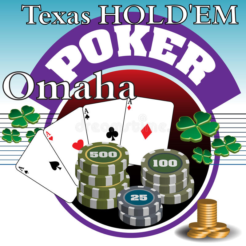 Bote del póker stock de ilustración