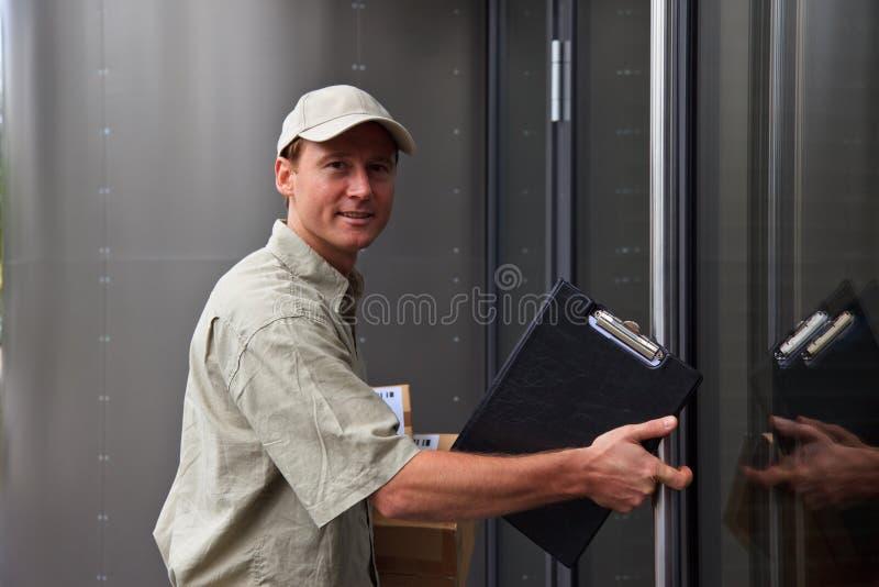 Bote an Ihrer Tür lizenzfreies stockbild