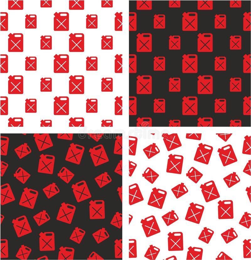 Bote para el sistema inconsútil alineado y al azar grande y pequeño del gas o del aceite del modelo de color rojo ilustración del vector