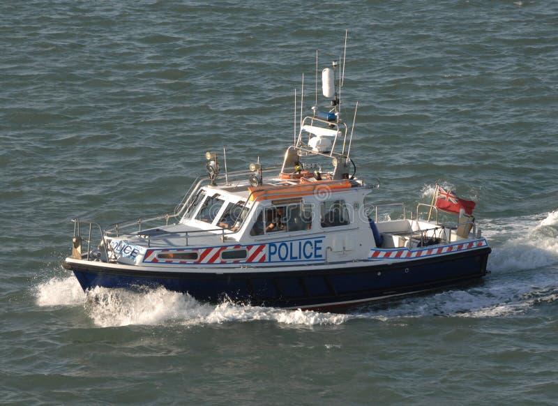 Bote patrulla de la policía imagen de archivo