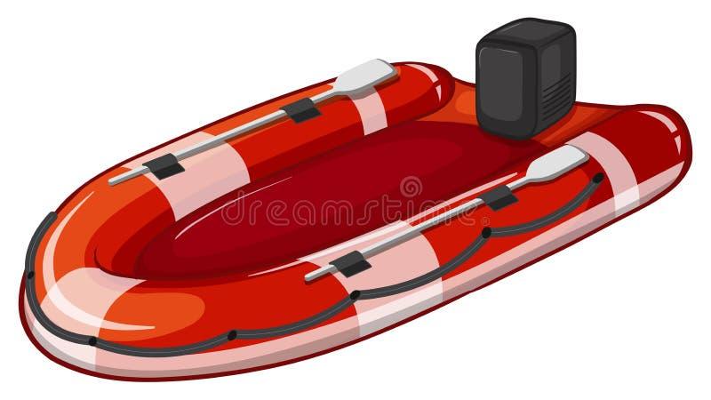 Bote salvavidas stock de ilustración