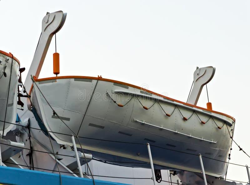 Bote salvavidas en costero, bote de salvamento en un barco de cruceros imágenes de archivo libres de regalías
