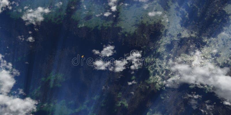 Bote salvavidas perdido en el mar libre illustration