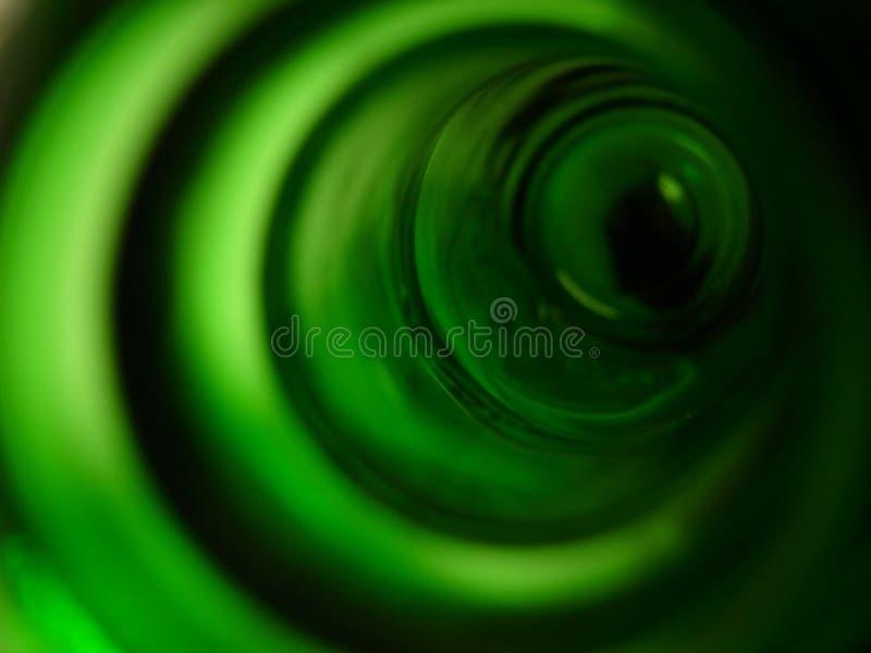 Botella abstracta verde foto de archivo