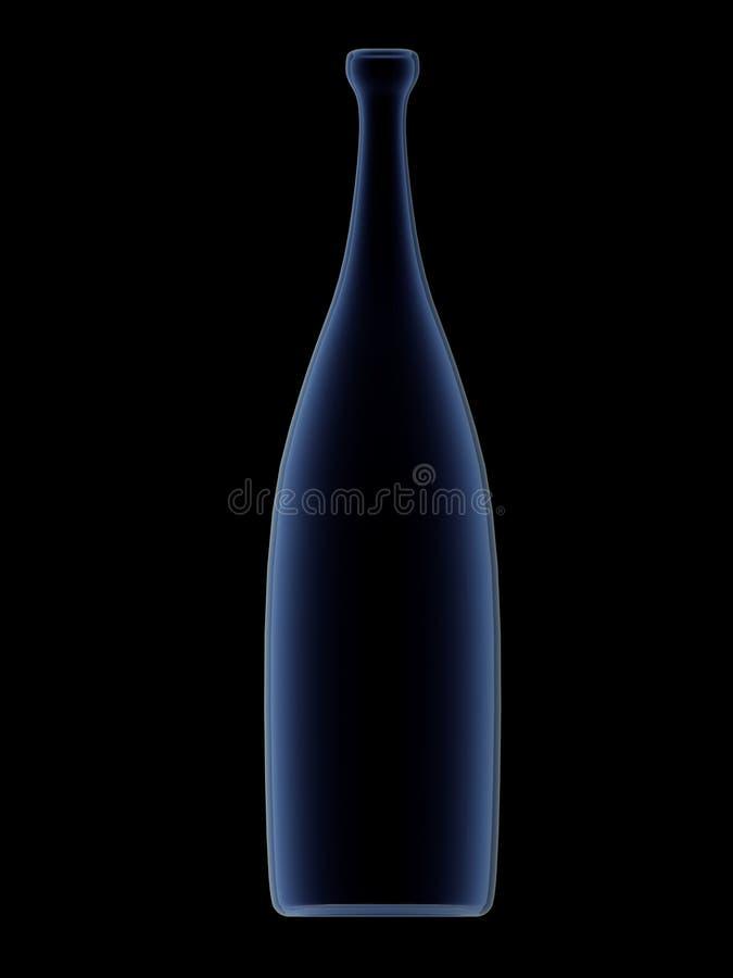 Botella azul fotografía de archivo