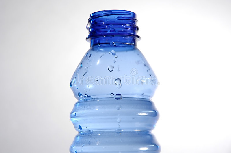 Botella azul II imagen de archivo