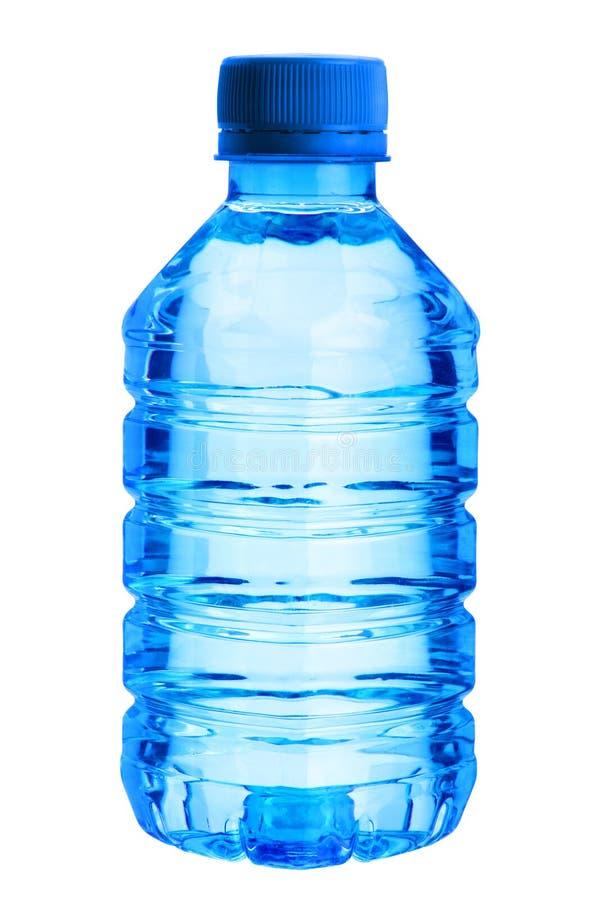 Botella azul plástica fotografía de archivo libre de regalías