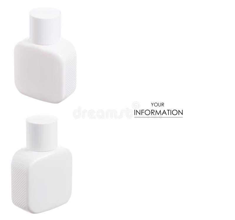 Botella blanca de modelo determinado del perfume masculino fotografía de archivo
