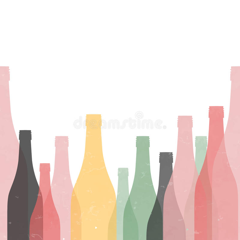 Botella Cartel retro inconsútil ilustración del vector